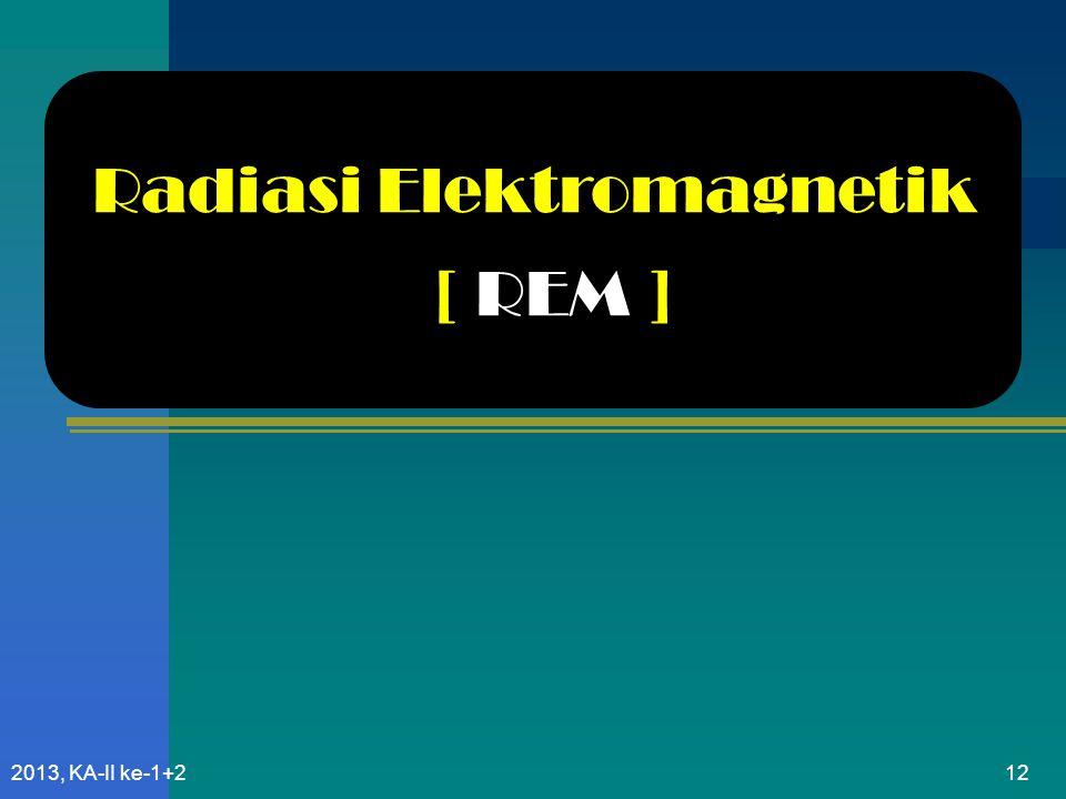 Radiasi Elektromagnetik [ REM ]